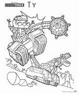 Dinotrux Coloring Pages Ty Printable Run Character sketch template
