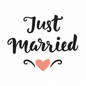 Just Married Clip Art, Vector Images & Illustrations - iStock