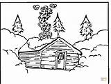 Coloring Log Pages Cabin Printable Cabins Colouring Mountain Woods Template Books Wood Supercoloring Christmas Winter Logs Snowy Cottage Silhouettes Loading sketch template