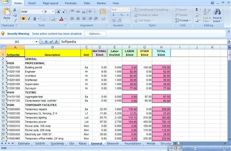 remodel  cost estimator  excel remodel  cost