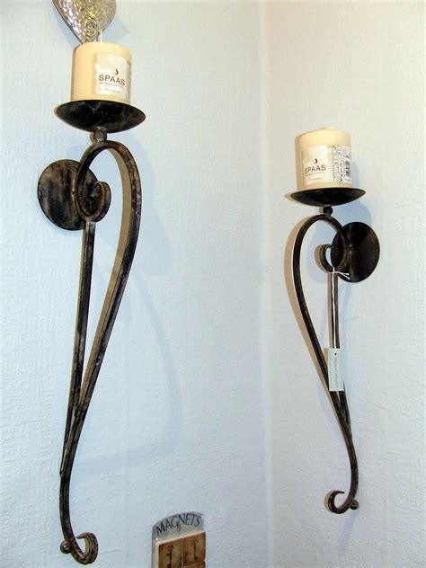 Wrought Iron Sconces by Wrought Iron Wall Candle Holders Light Sconces Tuscan