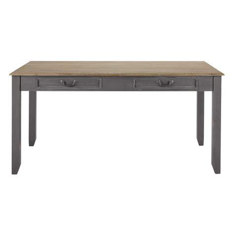table de salle 224 manger 224 rallonge en bois grise l 160 cm honorine maisons du monde