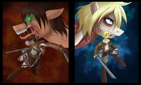 Attack On Titan Mlp By Derpsonhooves On Deviantart