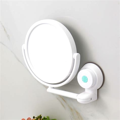 glass knobs and pulls modern suction cup small makeup mirror white bathroom plastic