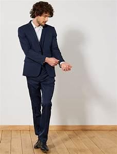 Costume Bleu Marine Homme : veste de costume slim en twill homme noir kiabi 35 00 ~ Melissatoandfro.com Idées de Décoration
