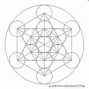 Mandala Monday - Free Metatron's Cube Mandala to Color