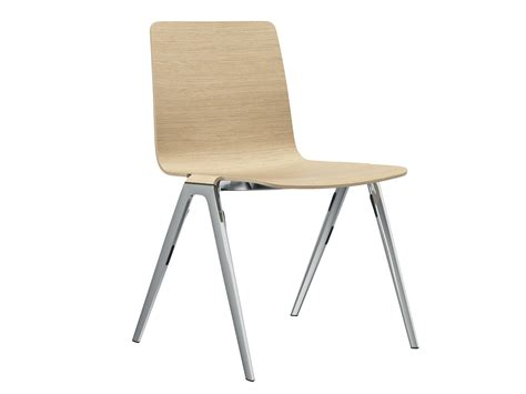 stackable wooden chair a chair chair by brunner design
