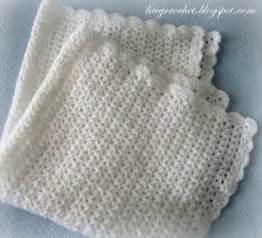 Free Crochet V Stitch Baby Blanket Pattern