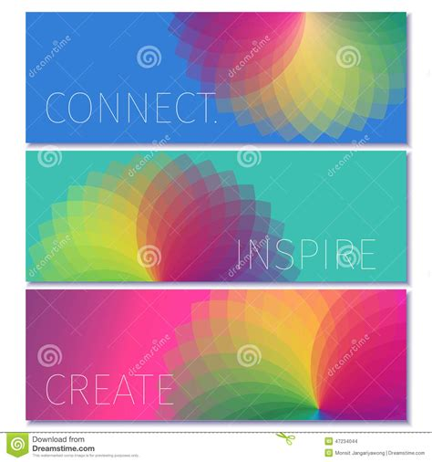 colorful modern banner design template stock vector