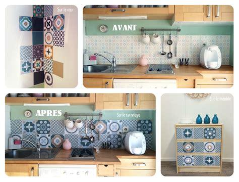 ma cuisine pour vous j 39 ai testé pour vous les stickers décorés façon carreaux de ciment pour relooker ma cuisine