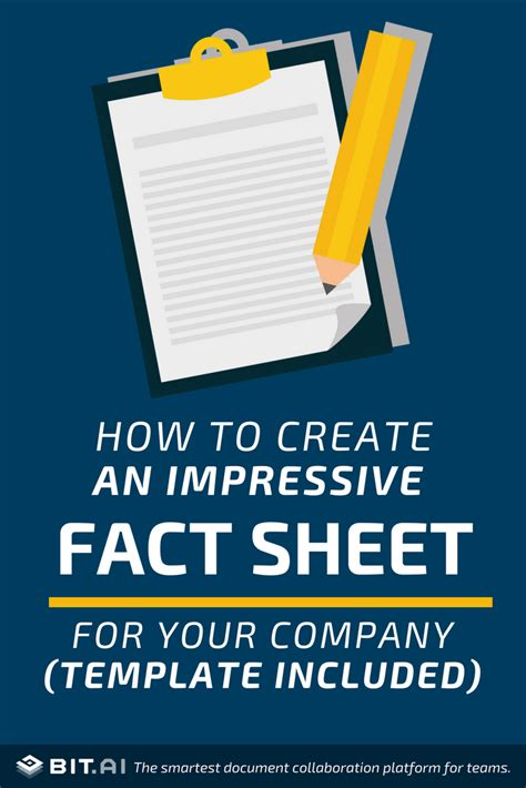create  impressive fact sheet   company