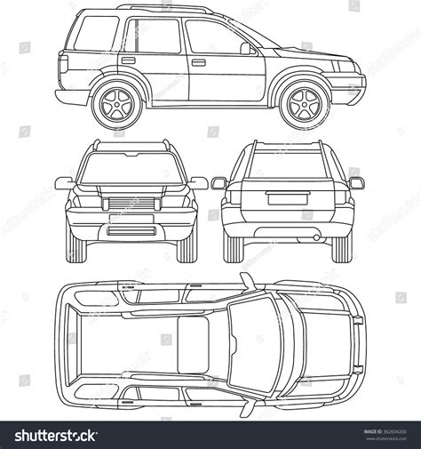 car offroad  draw insurance rent stock vector