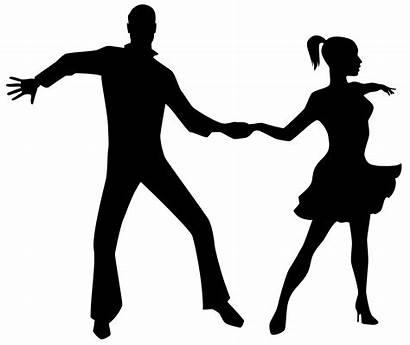 Ballroom Dancers Silhouettes Dancing Transparent Clipart Clipartmag
