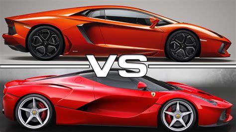 Δειτε ακομη δοκιμάζουμε τη ferrari 812 superfast. Lamborghini Aventador vs Ferrari LaFerrari - YouTube