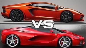 Ferrari Vs Lamborghini : lamborghini aventador vs ferrari laferrari youtube ~ Medecine-chirurgie-esthetiques.com Avis de Voitures