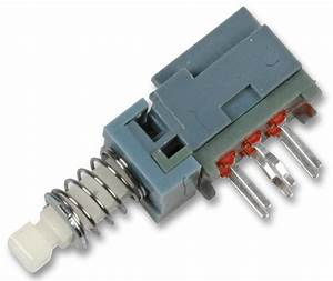 Horizontally Actuated Latching Push Button Switch  Off