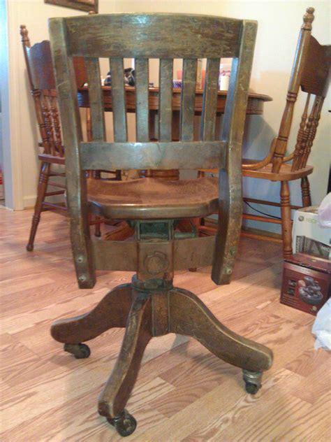 antique wooden swivel desk chair wooden swivel desk chair antique appraisal instappraisal