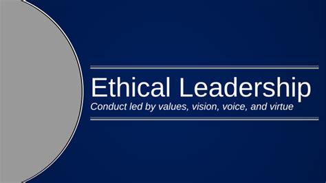 basics  ethical leadership villanova university