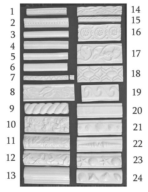 Handmade Borders Tiles, Listello Tile, Pencil Tiles and