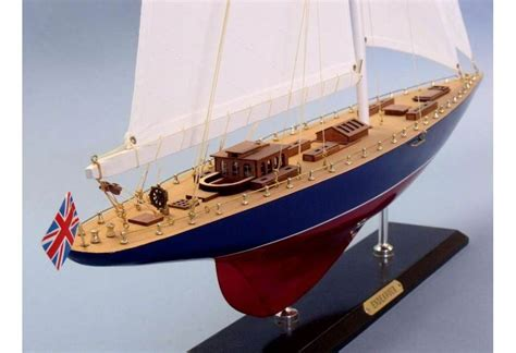 America'S Cup Endeavour Scaled Wooden Yacht Sailboat Model