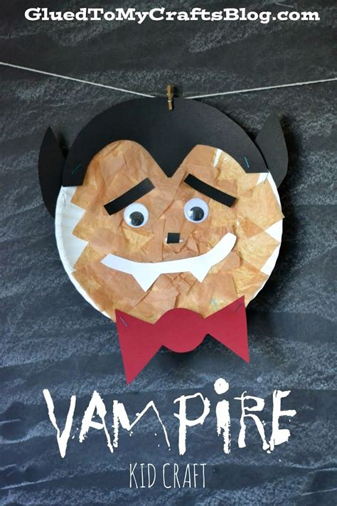paper plate vampire kid craft