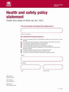 health and safety policy template 2 free templates in With health and safety statement of intent template