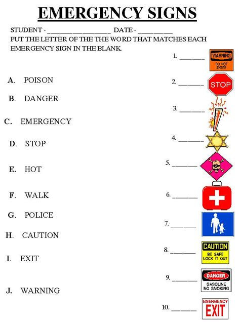 safety signs worksheets calleveryonedaveday