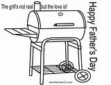 Coloring Pages Fathers Father Grill Printable Hints Sly Gives Him Give Guy He sketch template