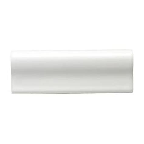 Home Depot Wall Tile Trim by Daltile Semi Gloss White 2 In X 6 In Ceramic Counter