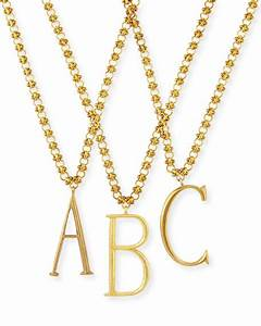 sarah chloe sonya layered letter monogram necklace gold With chloe letter necklace