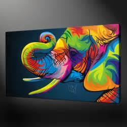 Elephant Print Canvas Art