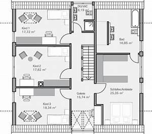 Haus Grundriss Ideen Einfamilienhaus : einfamilienhaus grundriss 3 kinderzimmer ~ Lizthompson.info Haus und Dekorationen