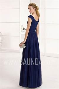 Baunda Vestido de fiesta 2017 Marfil 1J284 azul marino en Baunda Madrid y online