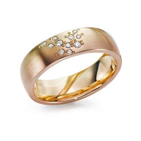 stunning 6mm triple colour 14ct gold wedding ring