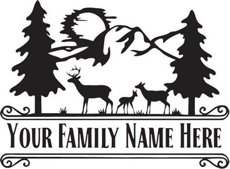 large vinyl monogram deer family scene split monogram etsy deer family vinyl monogram