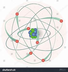 Model Of An Atom With Electrons  Neutrons And Protons