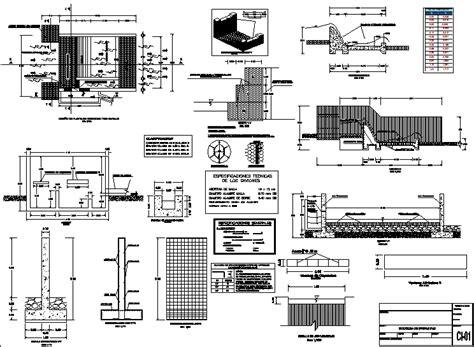 intake  barrier dam dwg detail  autocad designs cad