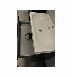 ensemble de salle de bain guadix gris 80cm meuble salle With porte d entrée pvc avec meuble salle de bain 80 cm gris