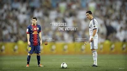 Messi Ronaldo Cristiano Wallpapers Football Lionel Victory