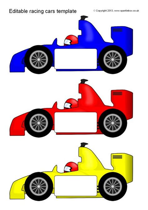 race car template editable racing car templates reversed sb10060 sparklebox