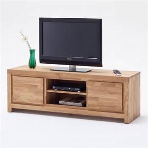 Mobile porta TV Santos in legno massiccio con due ante