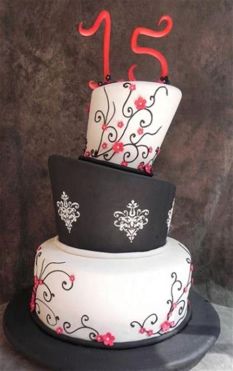 topsy turvy  tier  birthday cake   number