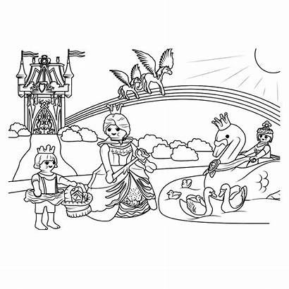 Playmobil Coloring Pages Printable Princess Categories Similar