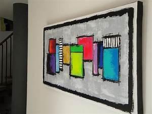 Tableau Peinture Moderne : un nouveau tableau moderne ~ Teatrodelosmanantiales.com Idées de Décoration