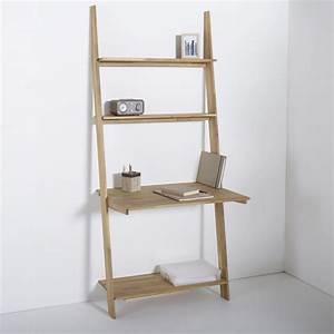 Etagere De Bureau : petit bureau gain de place 25 mod les pour votre ordinateur joli place ~ Teatrodelosmanantiales.com Idées de Décoration