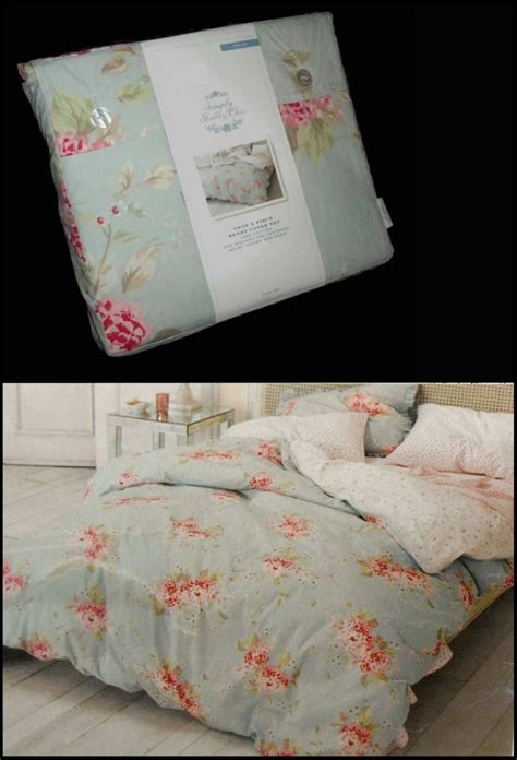 shabby chic hydrangea bedding rachel ashwell simply shabby chic duvet sham set belle hydrangea rose blue pink ebay