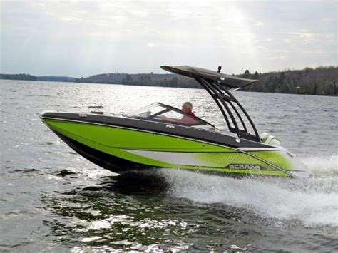 Scarab Boats 195 Review by 2014 Scarab 195 Ho Impulse Tested Reviewed On Boattest Ca