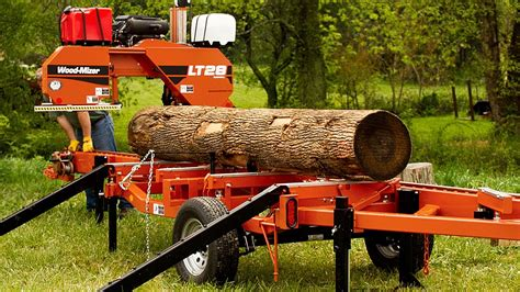 wood mizer lt portable sawmill youtube