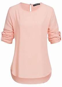 77 Online Shop De : styleboom fashion damen turn up bluse tropfenschlitz rosa 77onlineshop ~ Markanthonyermac.com Haus und Dekorationen