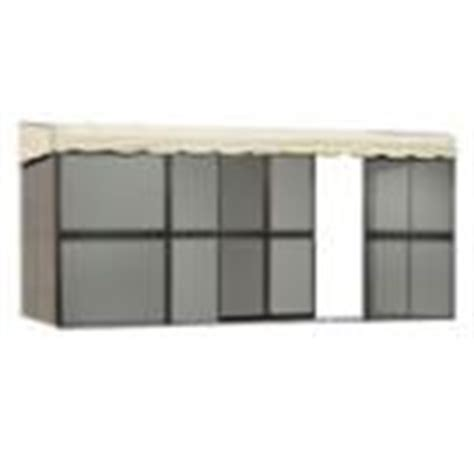 best deal patio mate 10 panel screen enclosure 09165 brown with almond roof gazebo canopy lowes